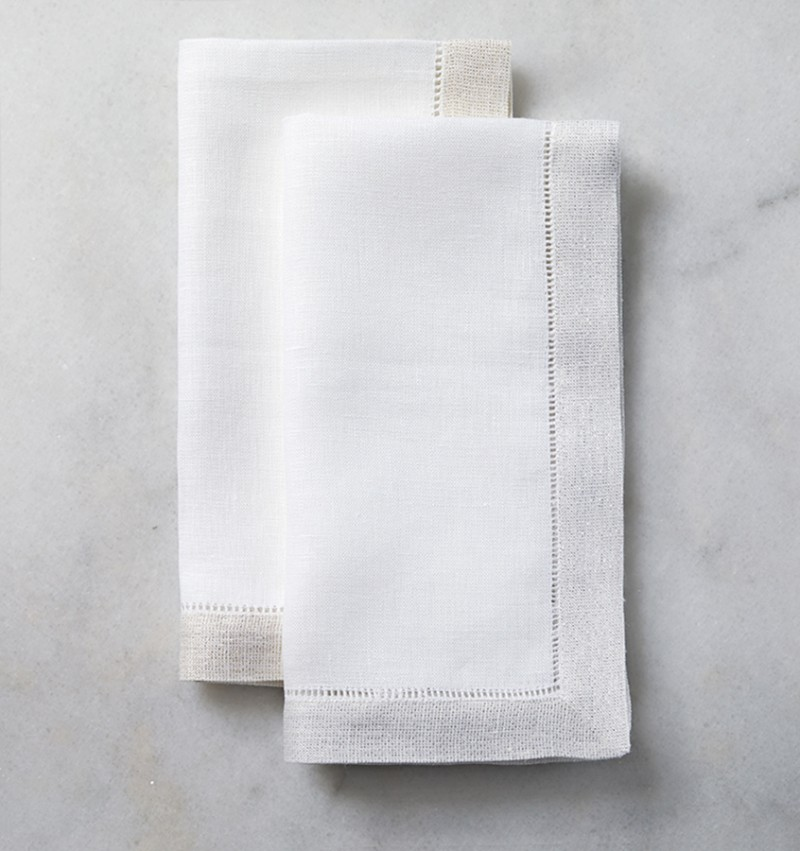 Sferra Filetto Napkins Gold and Silver