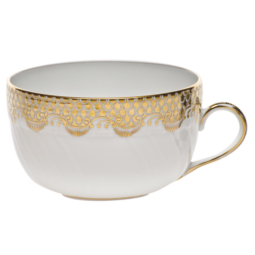 Herend Fish Scale Canton Gold Cup