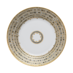 Mottahedeh Syracuse Dinner Plate Taupe