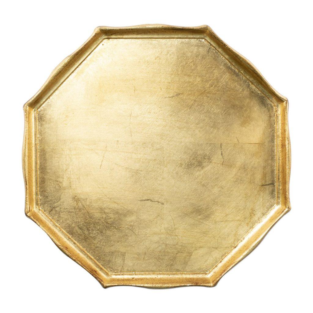 Vietri Florentine Gold Octagonal Tray