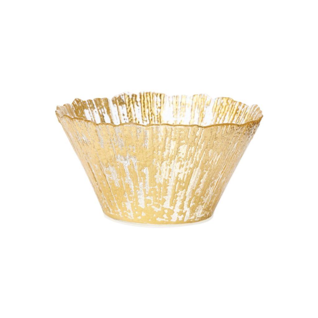 Vietri Rufolo Glass Gold Sm Deep Bowl