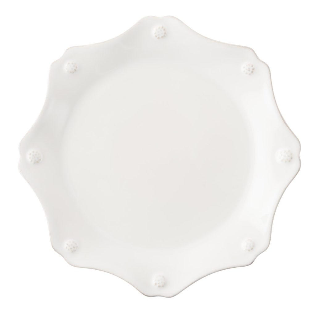 Juliska B&T Whitewash Scallop Salad Plate