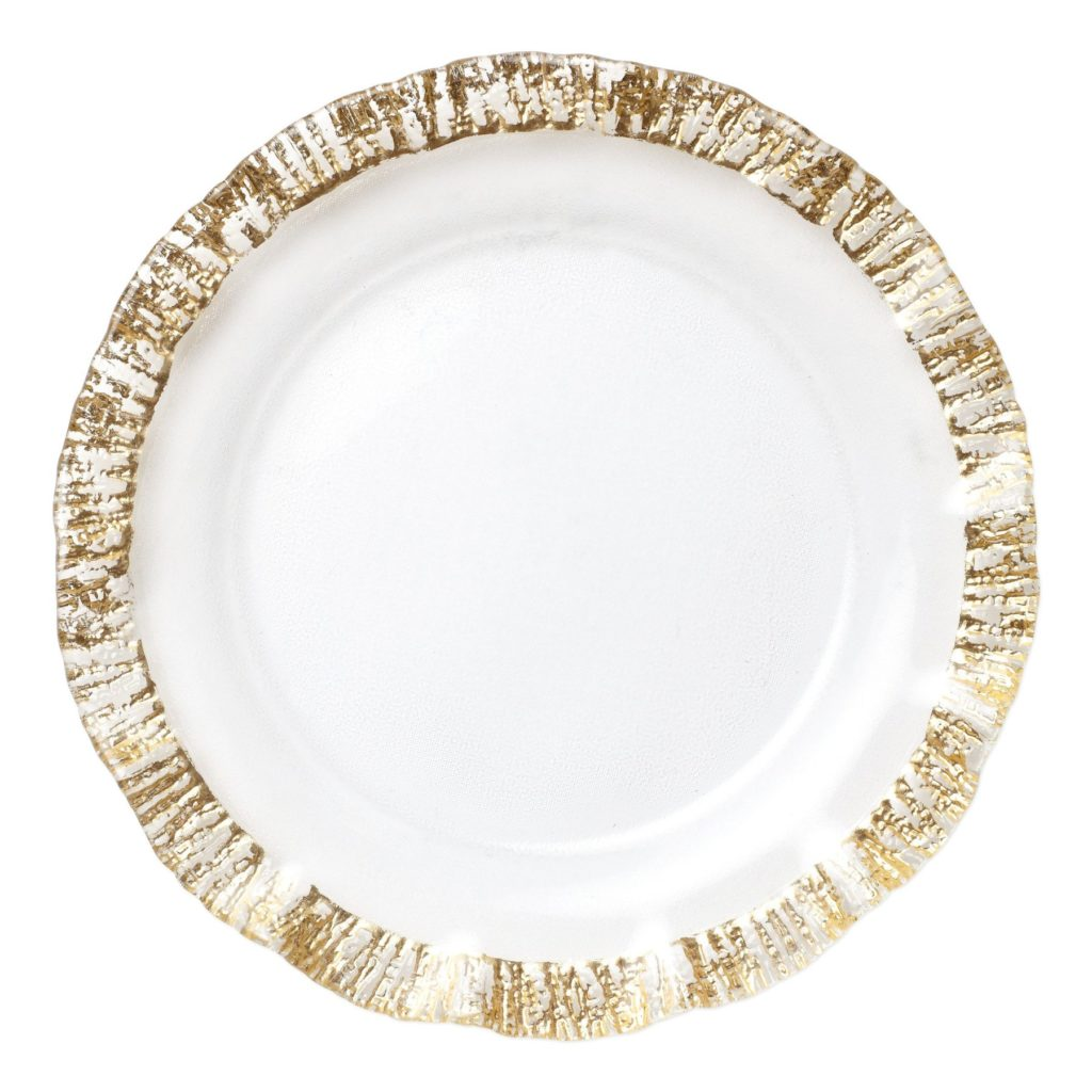 Vietri Rufolo Glass Gold Charger