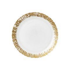 Vietri Rufolo Glass Salad Plate